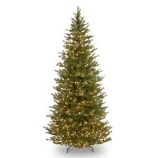 tree company 7 5 ft pre lit spruce slim artificial