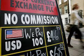 bureau de change 8 pound and pushed even higher against the dollar photos