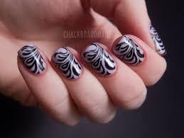 spooky stamping chalkboard nails nail art blog