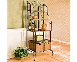 Metal And Wood Bakers Rack Bakers Rack For Microwave Foter