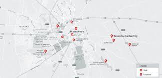 Marrakech Map World by Garden City Morocco Marrakech