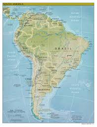 South America Map With Capitals by Maps Of South America Map Library Maps Of The World