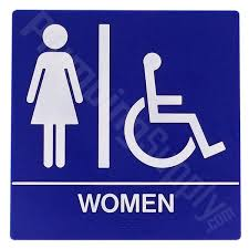 Mens And Womens Bathroom Signs Ada Bathroom Signs Ada Restroom Signs Stopsignsandmore Adorable