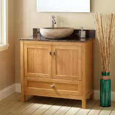 Modern Wood Bathroom Vanity Black Stained Wooden Bathroom Vanity Cabinet With Rectangle White