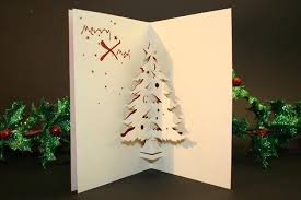 happy christmas greeting card pop up christmas tree