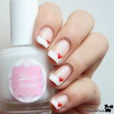 french tips hearts for valentine u0027s day nails and polish