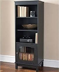 amazon com media storage bookcase tower multimedia organizer