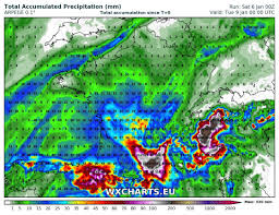 Rainfall Totals Map Major Rainfall In Parts Of Southern France On Sunday And Monday