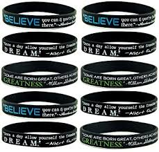 silicone bracelet wristband images 10 pack quot believe dream greatness quot inspirational jpg