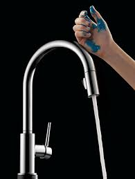 touch faucets kitchen touch on touch faucet with touch o technology delta faucet