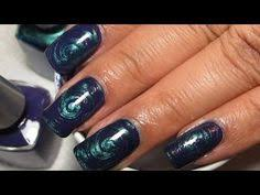 blue u0026 gold water marble nail art tutorial water marble