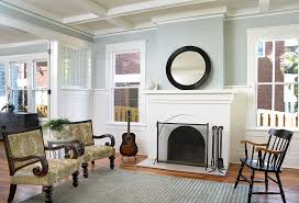 Living Room Wainscoting Brick Wainscoting Living Room Traditional With Brick Fireplace