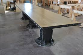 Vintage Conference Table Attractive Industrial Conference Table With I Beam Conference