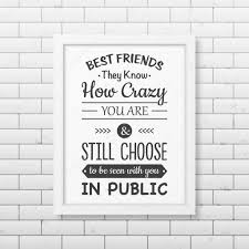 friendship quote photo frame friendship quote typographical poster u2014 stock vector gomolach