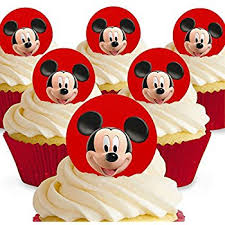 mickey mouse cupcakes cakeshop 12 x pre cut mickey mouse edible cake toppers
