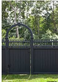 dark grey painted fence garden pinterest fences dark grey