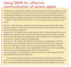 nurses can help improve outcomes in severe sepsis american nurse