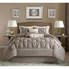 Solid Beige Comforter Madison Park Vivian Polyester Solid Tufted 7 Piece Comforter Set