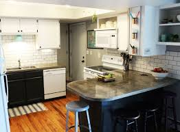 how to install a subway tile kitchen backsplash overall kitchen pictures with subway tile backsplash and concrete countertop