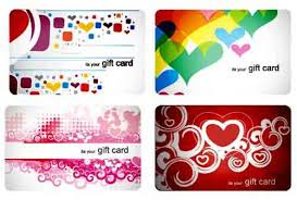stylish gift cards vector material set 03 vector card free