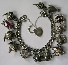 charm bracelet silver charms images Vintage english 60s 70s sterling silver charm bracelet with 13 jpg