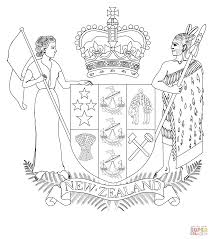 coat of arms of new zealand coloring page free printable