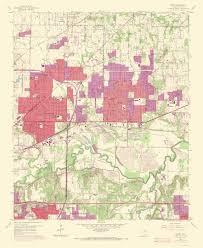 hurst map topographical map hurst 1969