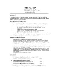 Lab Experience Resume Lab Technician Resume Skills Sidemcicek Com