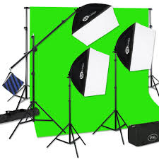 Photography Lighting Kit Three Light Pbl E Z Softbox Boom Kit For Photo Lighting