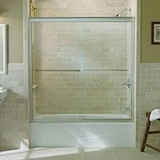 Shower Bath Doors Kohler 702200 L Mx Fluence Sliding Bath Door With Thick