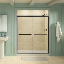 Kohler Frameless Sliding Shower Door Kohler Gradient 59 5 8 In X 70 1 16 In Semi Frameless Sliding