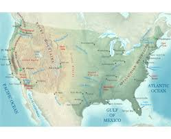 Arizona Elevation Map by Maps Of Usa Detailed Map Of United States Of America In English