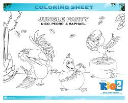 free rio 2 coloring pages mommy u0027s busy daddy