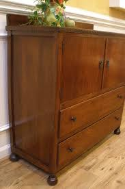English Oak Sideboard Vintage Art Deco English Oak Server Sideboard Tall Boy Hutch