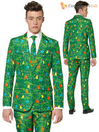 mens christmas tree suitmeister suit xmas party festive patterned
