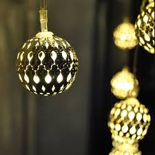 Battery Operated Fairy Lights by 20 Battery Powered Warm White Silver Moroccan Orb Led Fairy Lights