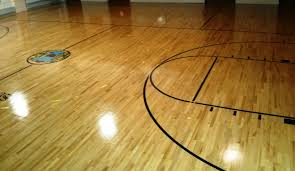 wood floor scrub and clear high gloss coating services in