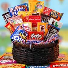 junk food gift baskets junk food basket veldk s flowers denver florist fresh cut