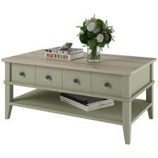 Wooden Coffee Table With Drawers Ameriwood Home Newport Coffee Table Light Gray Light Brown