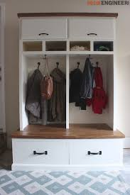 Mudroom Entryway Ideas Mudroom Lockers With Bench Free Diy Plans