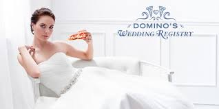bridal register domino s now offers a wedding registry for couples who can at