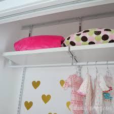 Closetmaid Shelf Track System An Organized Baby Closet With Closetmaid Shelftrack Elite The