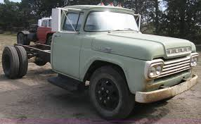 Vintage Ford F600 Truck Parts - 1959 ford f600 truck cab and chassis item b8188 sold oc