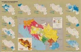 Yugoslavia Map Peoples Of Yugoslavia Distribution By Opština