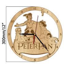 peter pan neverland gift never grow up disney wall wood clock home