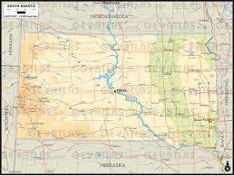 South Dakota County Map Geoatlas United States Canada South Dakota Map City