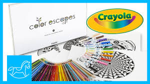 crayola color escapes coloring pages set review mommy