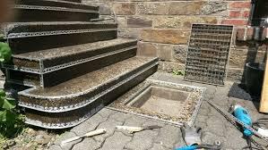 steinteppich verlegen treppe waschbetontreppe mit steinteppich sanieren steinteppich in ihrer