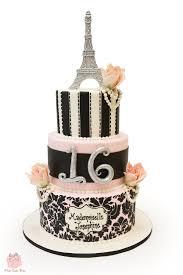 sweet 16 parisian themed cake sweet 16 cakes