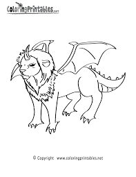 dragon lion coloring page a free fantasy coloring printable